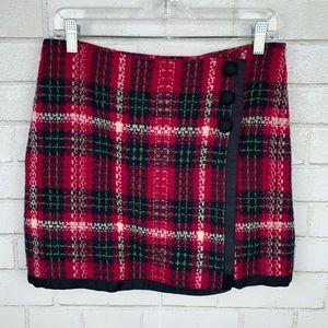 Vineyard Vines Plaid Wool Wrap Skirt 4 D2736